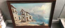 Large coastal / seaside painting
