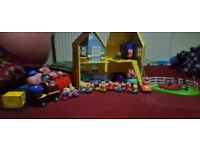 Peppa pig bundle lf playsets & new large soft toys from £3 to £17 or reduced job lot