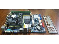 Motherboard AsRock Intel Core 2 Quad 2.5Ghz 4GB RAM Fan Backplate PC Computer