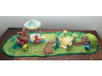In The Night Garden Soft N Cosy World Playmat & Iggle piggle, Makka Pakka Upsy Daisy Figures