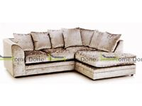 **UP TO 5 YEAR WARRANTY!!** Arabian Velvet Corner Sofa Suite or 3 and 2 Set -SAME DAY DELIVERY