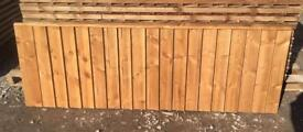 Superb quality vertical board heavy duty tanalised fence panels