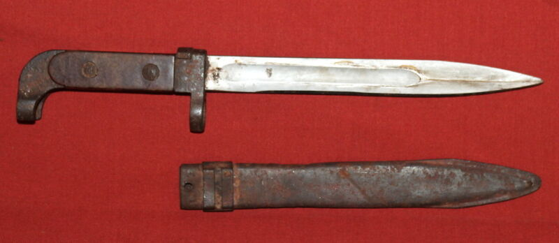 Vintage Bulgarian Military Model - 47 Knife Bayonet