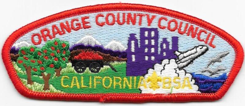 Orange County Council Strip Plastic Back CSP SAP Boy Scouts of America BSA