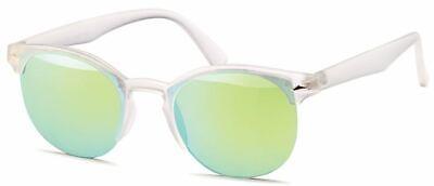 GD Sonnenbrille Clubmaster Matte Transparent / Green Mirror verspiegelt Händler
