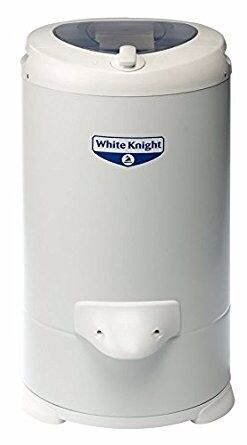 White Knight 28009W Gravity Drain Spin Dryer