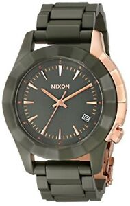 NIXON-The Monarch- Army Green/Rose Gold
