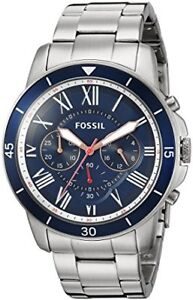 BRAND NEW Fossil Mens  Grant Sport Chronograph Stainless STEEL W
