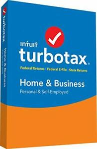 Turbo tax Home & Business return for 2018