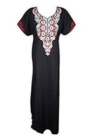 Ladies Kaftan Neck Embroidered Caftan Nightwear
