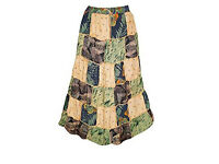 Ladies Skirt Patchwork Stylish Rayon Bohemian Gypsy