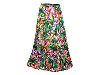 Maxi Skirt Multicolor Vintage A-line Gypsy Retro Long Skirts