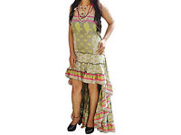Womens Hi Low Dress Recycled Silk Printed Party Dress