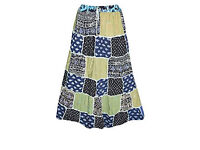 Womens Gypsy Skirt Patchwork Floral Peasant Style