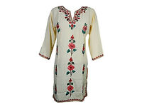 Womans Tunic Dress Kashmiri Floral Embroidered