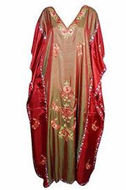 Womans Caftan Kashmiri Embroidered Bohemian Cruise Kaftan Maxi Dress