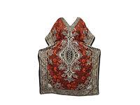 Womens House Dress Kaftan Orange Dashiki Printed Maxi Caftan Boho Dresses