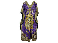 Ladies Kaftan Dashiki Print V-Neck Beach Dress Swimwear Cover-up Plus Size