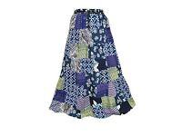 Mogul Interior Womens Maxi Skirt Patchwork Gypsy Boho Rayon Skirt