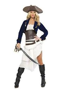 Halloween Costume Roma Deluxe 6pc Colonial Pirate Adult Small S