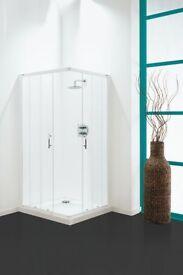 Coram Optima Corner Entry Shower Enclosure (White)