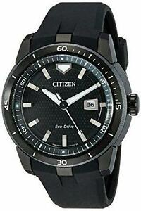 Citizen AW1477-15E Men's Ecosphere Eco-Drive Black Dial Black