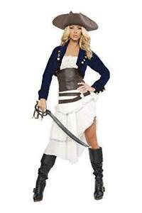 Deluxe Colonial Pirate Halloween Costume Adult Small Women's