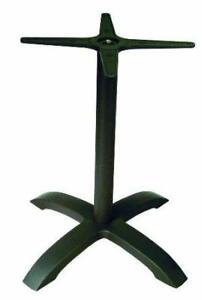 New American Trading Company B12BP Jennifer-4 Black Coated Cast Aluminum Commercial Indoor/Outdoor Table Base PU2