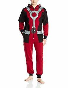 Brand New Men's Large Size Marvel Deadpool Jumpsuit