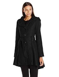 NEW Steve Madden Women's Single Breasted Wool Coat Condtion: New, Small, Black
