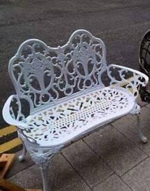 Cast aluminium garden benches available