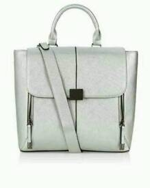 Brand New Accessorize Backpack/Satchel. Silverp