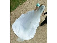 Full-length Cathedral Wedding Veil with crystals