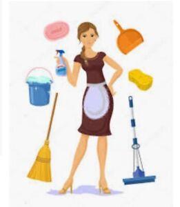 Spécial du prix/ femme de menage et entretien ménager/ 7 jours