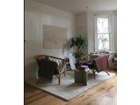 IKEA IBSKER off-white rug