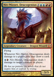MTG NIV-MIZZET,DRACOGENIUS Return to Ravnica gold creature-dragon wizard mythic
