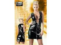 BLACK LEVEL VINYL DRESS