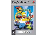 PS2 Game Simpsons Hit & Run - excellent condition, one of the best games on PlayStation 2