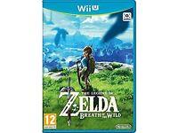 Zelda breath of the wilds Wii U