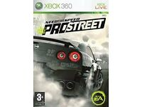 Need for speed pro street, PES 2009, COD Black ops 2, Minecraft, Halo 4