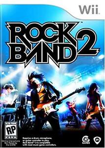 Rock Band 2 for Wii - game software, guitar, drum set and mic