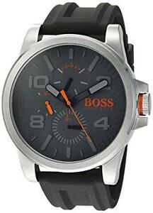 Men's Hugo Boss Detroit Black Silicone Band Watch 1550007