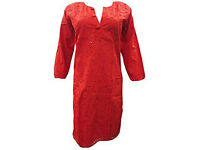 Womens Indian Tunic Dress Embroidered Kurti