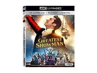 the greatest showman 4k & bluray , works on xbox one s x ,4k bluray new ! price stands , no offers !