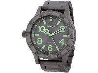 New Nixon 51 - 30 IT All Gunmetal Luminous Analogue Watch retail £550 limited time best deal