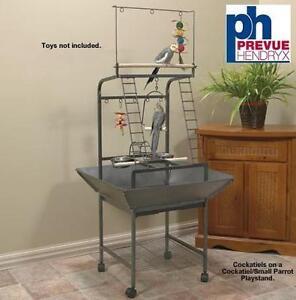NEW PREVUE SMALL PARROT PLAYSTAND PREVUE PET PRODUCTS - COCKATIELS - BLACK HAMMERTONE 102192592