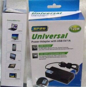 NEW AUTOMATIC AC ADAPTER BATTERY CHARGER+USB PORT 4 LAPTOP MORE