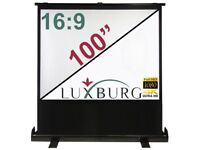 Luxburg® 221x125cm 16:9 Portable Freestanding Floor Pull-up Projection Screen