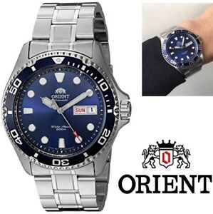 NEW ORIENT MEN'S RAY II JAPANESE AUTO STAINLESS STEEL DIVING WAT