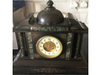 Antique slate clock